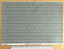 G gauge (1:24) scale) grey roof tile paper - A4 sheet (297 x 210 mm)