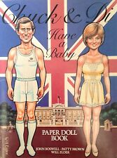 Chuck & Di Have a Baby Paper Doll Book,1982, 16 Pages, Uncut, Princess Diana