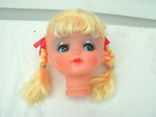 "Vintage Doll Head--Blonde Hair with Braids--5""--Rubber--New Unused--"