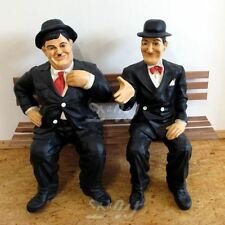 DICK & DOOF auf BANK groß Deko Garten Figur STAN & OLLIE LAUREL & HARDY FILM