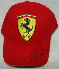 Alain Prost Signed Ferrari Classic F1 Cap / Hat with Proof