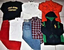 RALPH LAUREN BOY'S 7 AWESOME 8 PIECE PANTS, SHIRTS & JACKET CLOTHING LOT IN EUC!