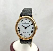Vintage BAUME & MERCIER Geneve TIFFANY & Co. 18K Gold Oval Women's Watch