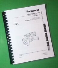 LASER PRINTED Panasonic AG-DVX100B Video 88 Page Owners Manual Guide