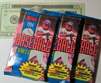 1994 Topps Baseball Cards Series 2 - Factory Sealed 3 Pack Lot Mike Piazza Jeter