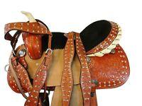WESTERN ARABIAN HORSE SADDLE 16 15 PLEASURE TRAIL TOOLED LEATHER HORSE TACK SET