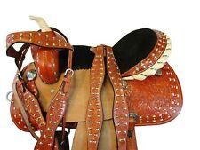 15 16 Barrel Saddle Western Horse Racing Tack Set Pleasure Floral Tooled Leather