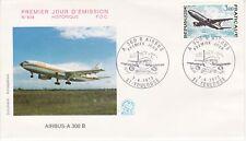 Enveloppe 1er jour FDC n°829 - 1973 : Airbus Avion - Airbus A 300 B.