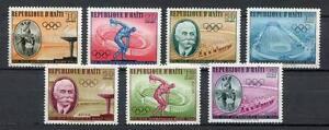 29734) HAITI 1960 MNH** Nuovi** Olympic Games Rome 7v