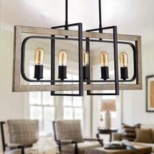TZOE Rectangle Dinning Room Chandelier Rustic Pendant Lighting for Kitchen