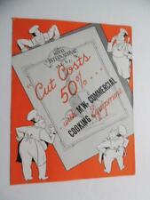 1936 MW Oil Burning Commercial Range Oven Brochure Motor Wheel Corp 109 151 251