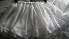 Triple Layer White Chiffon Short Petticoat Sissy CD TV