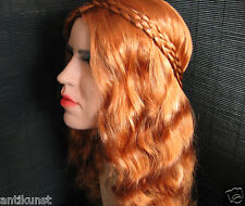 Latex Mask LADY +LASHES +FOLK WIG - Real. Female Rubber Woman Trans T-Doll Face