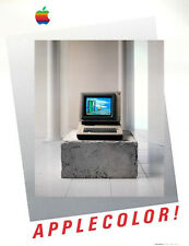 Apple History! Mint 1985 AppleColor poster being sold by the photographer