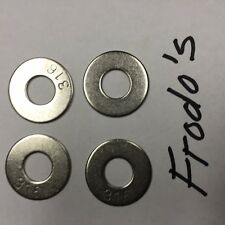 """1/4""""  Flat washers 316 Stainless Steel  300 count"""