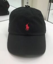 Polo Ralph Lauren Men's Chino Sports Cap Cotton One Size Black NEW $40