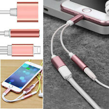 Lightning AUX Audio 3.5mm Cable Adapter Headphone Jack Splitter For iPhone 6 8 7