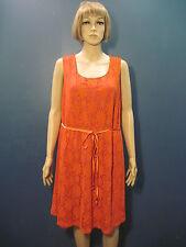 plus size 1X sleeveless orange and pink crochet stretchy dress by APT. 9