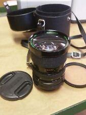 Quantaray zoom lens F28-80mm  1:3.5 - 4.5 Cannon SLR w/ Tiffen 65mm Sky & Case