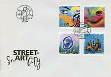 Switzerland Street Art Stamps 2020 FDC Smart City 4v Set