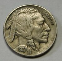 1927 Buffalo Nickel Grading XF Nice Uncleaned Coin Priced Right FREE S&H  c35