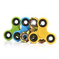 Tri-Spinner Fidget Toy Ceramic EDC Hand Finger Spinner Desk Focus Stress For kid