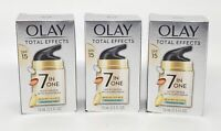 Olay Total Effects Face Moisturizer SPF 15 Fragrance-Free 0.5 oz x3 Exp 7/21