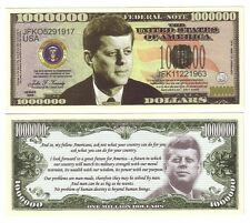 ONE MILLION DOLLARS JOHN.F KENNEDY
