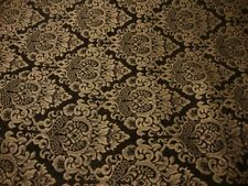 Brown Cleopatra Chenille Fabric Gold Damask Print upholstery furniture