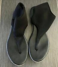 BCBGeneration Black Neoprene Stretchy Thong Ankle Sandals - Sz 9M