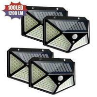 100 LED Solar Power PIR Motion Sensor Wall Light Outdoor Garden Waterproof W1K8