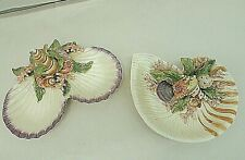 Fitz And Floyd Classic Ocean/Sea Shell Dishes, Lot Of 2