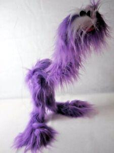 Vintage Vizi Purple & White Bubaloo Bird String Puppet Marionette Fluffy Monster