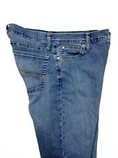 7bc1370a Wrangler Womens As Real As Blue Jeans Flare Mid Faded Slub WCW82WH Size 10