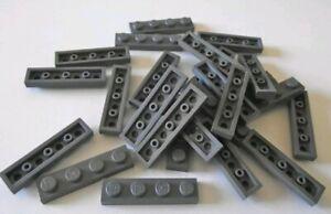 Lego Plate Flat 1 x 4 dark bluish grey part 3710 pack of 10 used Ref:D203