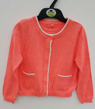 Baby Girls Cardigan Coral New Ex M&S Age 6 9 12 18 24 Months