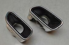 09-11 R230 MERCEDES SL550 EXHAUST TIP TIPS LEFT & RIGHT SIDES CHROME OEM