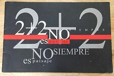 """ART CATALOG """"2+2 NO SIEMPRE ES PAISAJE"""" EXHIBITION PINAR DEL RIO ART CUBA ARTE"""