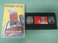 STUART LITTLE UN RATON EL LA FAMILIA GEENA DAVIS -  VHS CINTA TAPE CASTELLANO