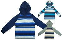 Boys Wrangler Stripe Hoody Long Sleeve T-Shirt Cotton Hooded Top 4 to 18 Years