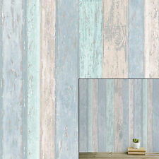 Coloroll Urban Texture Beach Hut Blue Glitter Textured Feature Wallpaper