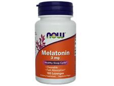 NOW MELATON 3mg - 180/360/540 Vegane Kapseln Besserer Schlaf JET LAG Aid
