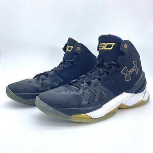 Under Armour Curry 2 'Elite' black gold  1280303 001 men size US 10 Basketball