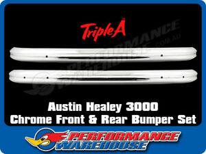 AUSTIN HEALEY 3000 FRONT AND REAR BUMPER SET, CHROME, BRAND NEW
