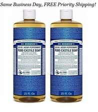 DR. Bronner's PURE CASTILE SOAP ORGANIC Oil 18 in 1 Hemp Peppermint 50 Oz TOTAL