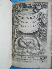 HOBOKEN : ANATOMIA SECUNDINAE VITULINAE, 1675. 37 figures sur 25 planches.