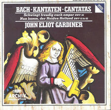 BACH, KANTATEN BWV 36, 61 & 62, SEALED 20 TRACK CD ALBUM FROM 1992