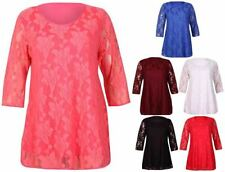 Lace Short Sleeve Casual Floral Tops & Blouses for Women