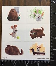 THE SECRET LIFE OF PETS, MAX DUKE SNOWBALL, ONE SHEET TEMPORARY TATTOOS #PETS11