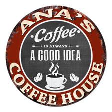 CPCH-0181 ANA'S COFFEE HOUSE Chic Tin Sign Decor Gift Ideas
